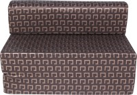 Uberlyfe 4 x 6 Single Sofa Bed(Finish Color - Dark Brown Mechanism Type - Fold Out)