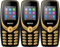 Inovu A1s Pack of Three Mobiles(Black&Gold$$Black&Gold$$Black&Gold)