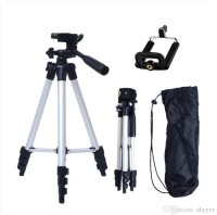 Doodads Tripod - 3110 Portable & Foldable Camera - Mobile Tripod With Mobile Clip Holder Bracket , Fully Flexible Mount Cum Tripod , Standwith Three-dimensional Head & Quick Release Plate Only 150 gm Tripod(Silver, Supports Up to 1500 g)