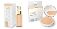 iba halal iba ivory fair foundation and Perfect Look Long-Wear Mattifying Compact fair pearl 01(Set of 2)