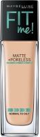 Maybelline New York Fit Me Matte+Poreless Liquid, 30ml Foundation(128 Warm Nude, 30 ml)