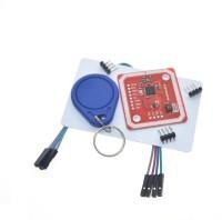 xcluma PN532 NFC RFID Wireless Module V3 User Kits Reader Writer Mode IC S50 Card PCB Attenna I2C IIC SPI HSU(Red) thumbnail