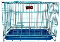 Foodie Puppies Imported High Quality Puppy/Small Pet Cage With Removable Tray (24Inch) (BLUE) Dog, Cat House