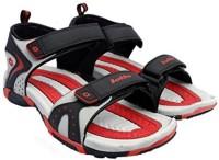 Lotto Men Black/Red Sports Sandals