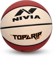 Nivia Top Grip 2.0 Basketball - Size: 7(Pack of 1, Brown)
