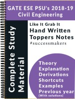 IES GATE PSU`S (2019) Civil Engineering Top Rankers Hand Written Notes (Set Of 14 Books)(Paperback, Top Rankers)