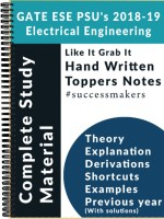 IES GATE PSU`S (2019) Electrical Engineering (EE) Top Rankers Hand Written Notes (Set Of 12 Books)(Paperback, Top Rankers)
