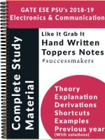 IES GATE PSU`S (2019) Electronics & TeleCommunication Top Rankers Hand Written Notes (Set Of 11 Books)(Paperback, Top Rankers)