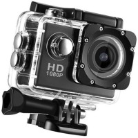 ALONZO Action Camera Ultra HD Waterproof Sport Camera 12MP 170 Degree Wide Angle Rechargeable 1050mAh Batteries Sports and Action Camera(Black, 12 MP)