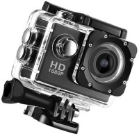 ALONZO Action Camera Ultra HD 12MP Sports Camera 30m Underwater Waterproof 170 Degree Adjustable Wide Angle Lens Sports and Action Camera(Black, 12 MP)