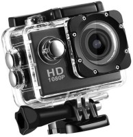 ALONZO Sports Action Camera Ultra HD Waterproof DV Camcorder 12MP 170 Degree Wide Angle Sports and Action Camera(Black, 12 MP)