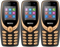 Inovu A1s Plus Pack of Three Mobiles(Black & Gold)