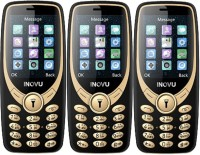 Inovu A9 Pack of Three Mobiles(Black & Gold)