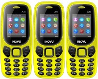 Inovu A1i Pack of Three Mobiles(Yellow)