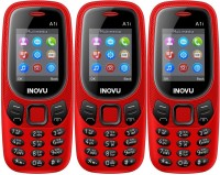 Inovu A1i Combo of Three Mobiles(Red)