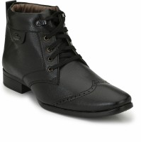 Eego Italy Stylish And Elegant Ankle Length Boots For Men(Black)