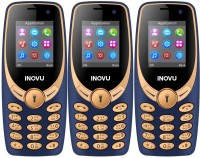 Inovu A1s Plus Pack of Three Mobiles(Blue & Gold)