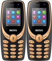 Inovu A1s Plus Combo of Two Mobiles(Black & Gold)