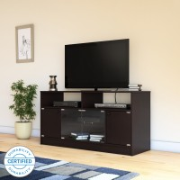 Flipkart Perfect Homes Phonox Engineered Wood TV Entertainment Unit(Finish Color - Wenge)