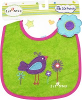 1st Step Baby Bib 3D Patch(Pink, Green)