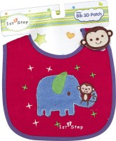 1st Step Baby Bib 3D Patch(Violet, Red)