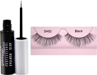 GlamGals Stylish Eye Lashes with Glue Transparent 6.5 ml(1 Items in the set)