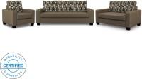 Flipkart Perfect Homes Trieste Fabric 3 + 2 + 1 Brown Sofa Set