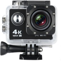 Techlife Solutions With Remote Control 16MP Ultra HD 4K Wifi Extreme Sports Camera Sports and Action Camera(Black, 16 MP)