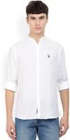 U.S. Polo Assn Men's Solid Casual Mandarin Shirt