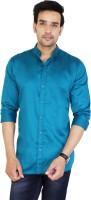 Jai Textiles Men's Solid Casual Blue Shirt