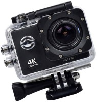 ALONZO Wifi Action Camera 4K Ultra HD Waterproof Sports Camera 12MP 170??Wide Angle Lens Rechargeable Batteries Sports and Action Camera(Black, 12 MP)