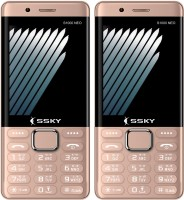 Ssky S1000 Neo Combo of Two Mobiles(Rose Gold)