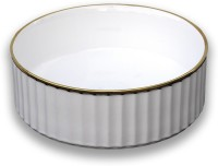 CONNELL CERAMICS CROWN WHITE 0.51 Table Top Basin(WHITE + GOLD)
