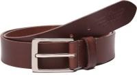 Police Men Casual Brown Genuine Leather Belt