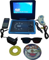 13-HI-13 3D Portable EVD/DVD Player With 7.8 Inch Screen With TV Tuner/Card Reader/Usb/Game 7.8 DVD Player(Blue)