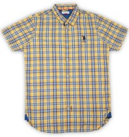 US Polo Kids Boys Checkered Casual Shirt