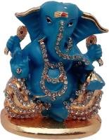 Art N Hub God Ganesh / Ganpati / Lord Ganesha Idol - Statue Gift item Decorative Showpiece  -  5 cm(Brass, Gold)