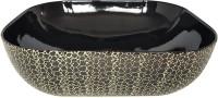 Brizzio Black Pattern Artistic Ceramic Wash Basin 602 Table Top Basin(Black)