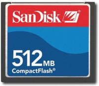 SanDisk compact flash 512 Compact Flash Class 4 15 Memory Card