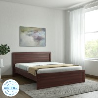 HomeTown Dazzle without Storage Engineered Wood Queen Bed(Finish Color -  Walnut)