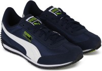 Puma Boys & Girls Lace Running Shoes(Blue)
