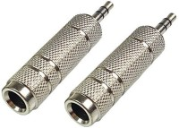 SeCro ( Pack of 2) 3.5Mm Stereo Male To 6.3Mm Stereo Female Adapter Converter(Silver)