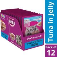 Whiskas Kitten (2-12 months) Tuna 1.02 kg (12x0.09 kg) Wet New Born Cat Food