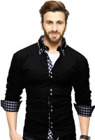 Tripr Men Checkered Casual Black, White Shirt