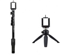 SHOPLINE YT 1288 2 In 1 Adjustable Selfie Monopod Stick And YT 228 Mini Tripod For Smartphones & DSLR Cameras With Bluetooth Remote Shutter Monopod Kit Tripod, Monopod(Multicolor, Supports Up to 3000 g)