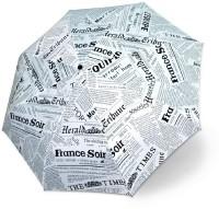 KRAPTICK Compact Travel (White Newspaper) Umbrella(White)