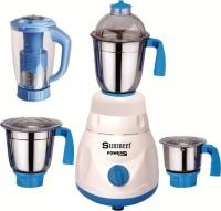 Sunmeet Speedway Smart 600 W Mixer Grinder(White, Blue, 4 Jars)