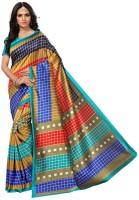 G-Stuff Fashion Self Design, Striped Mysore Silk Saree(Multicolor)