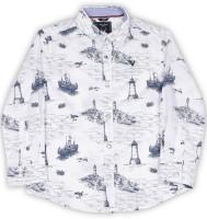 Allen Solly Junior Boy's Printed Casual Spread Shirt