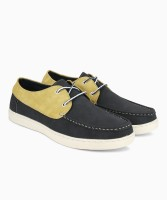 Peter England PE PFFL31798004 Boat Shoes For Men(Grey, Yellow)